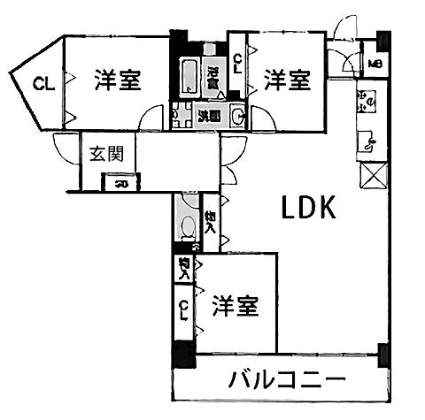 サーパス新大江・間取図